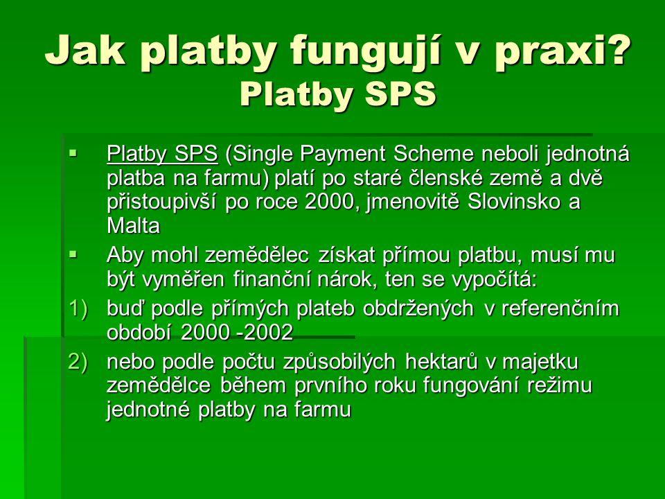 Jak platby fungují v praxi Platby SPS