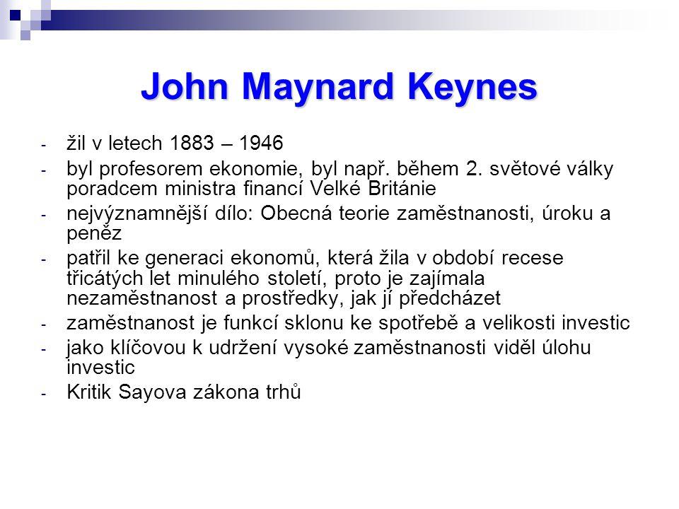 John Maynard Keynes žil v letech 1883 – 1946