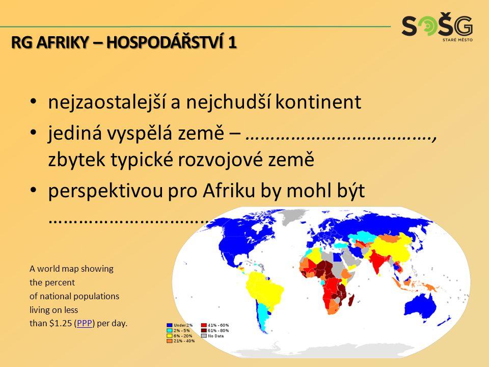 nejzaostalejší a nejchudší kontinent