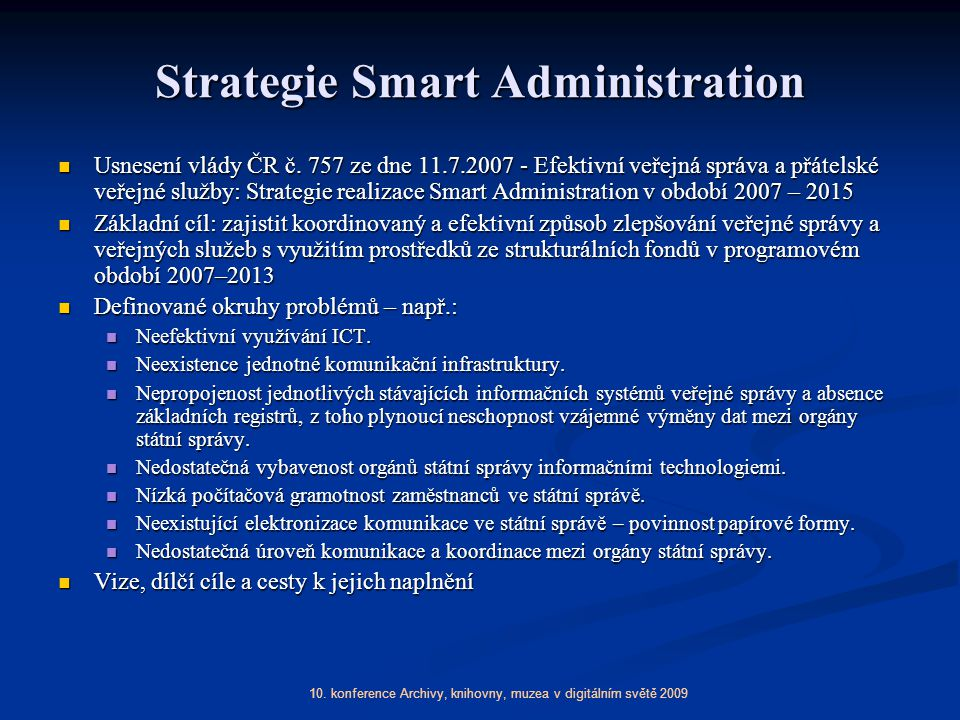 Strategie Smart Administration
