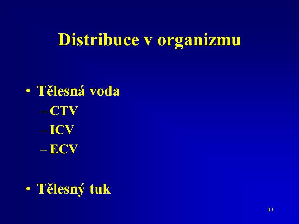 Distribuce v organizmu