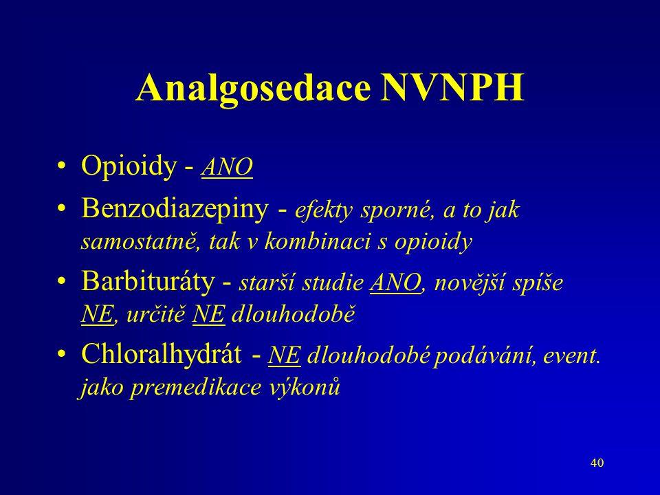 Analgosedace NVNPH Opioidy - ANO