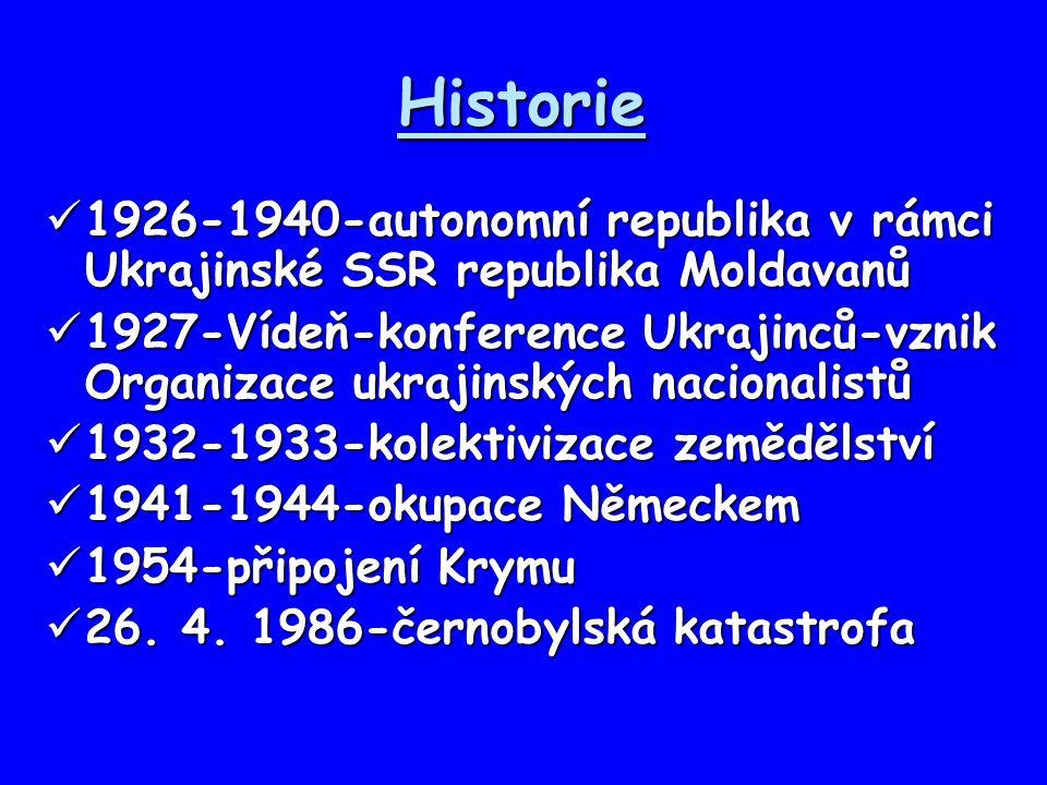Historie 1926-1940-autonomní republika v rámci Ukrajinské SSR republika Moldavanů.
