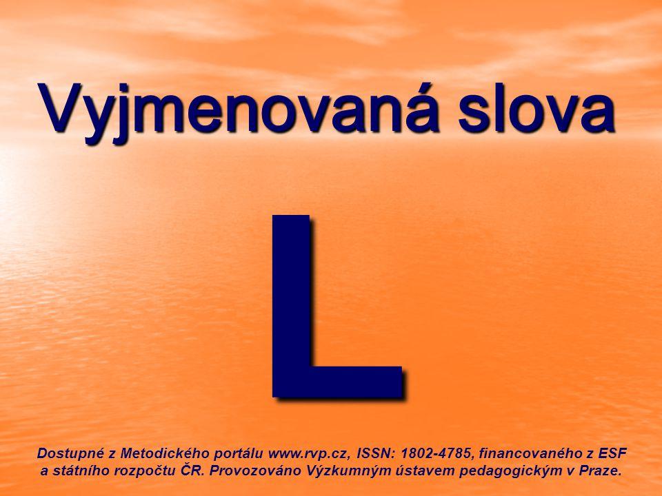 Vyjmenovaná slova L.