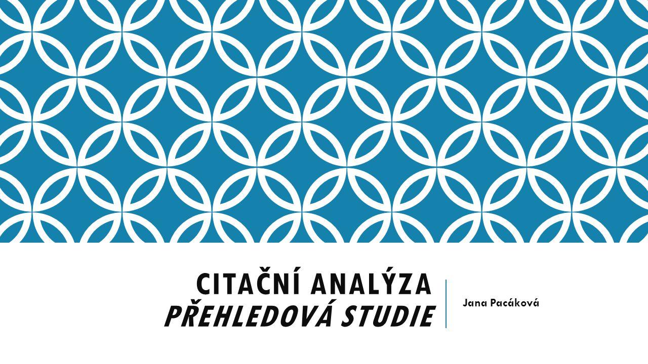 Citační analýza přehledová studie