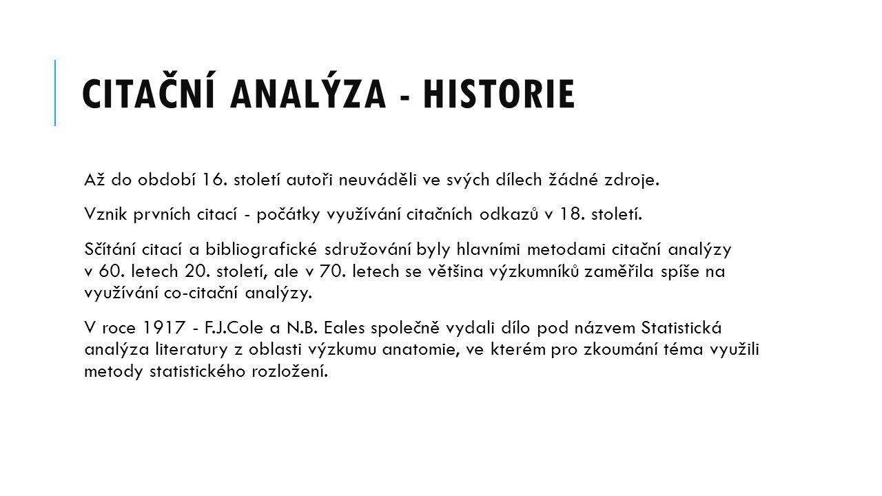 Citační analýza - historie