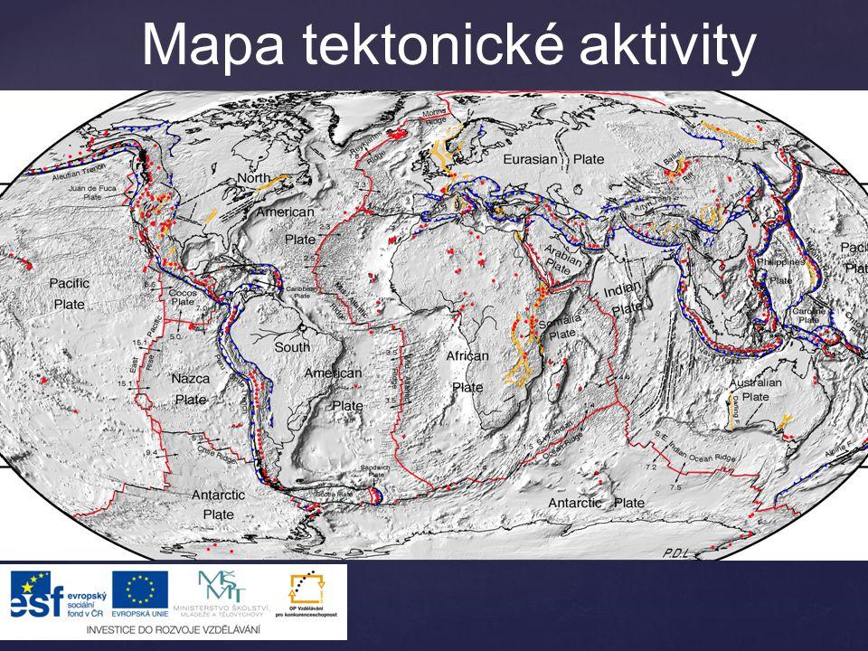 Mapa tektonické aktivity