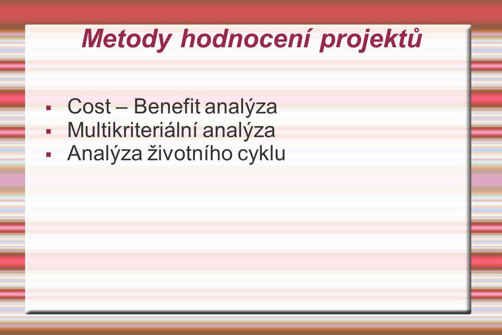 Metody hodnocení projektů