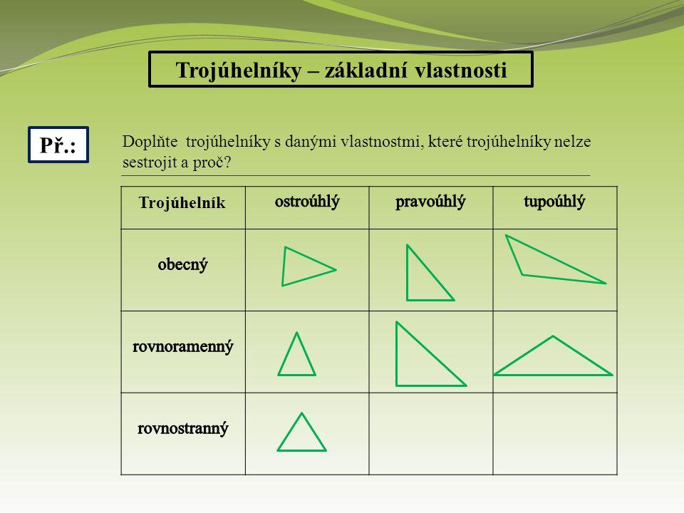 Trojúhelníky – základní vlastnosti