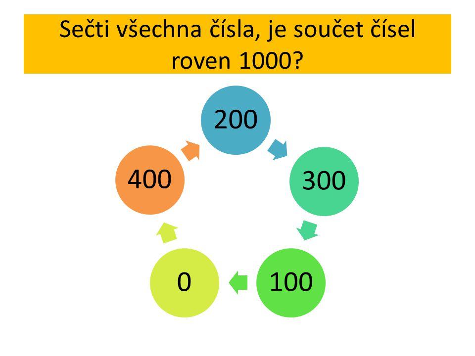 Sečti všechna čísla, je součet čísel roven 1000