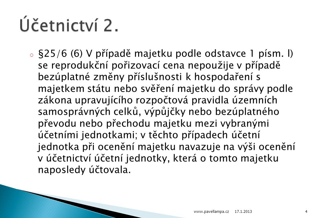 Účetnictví 2.