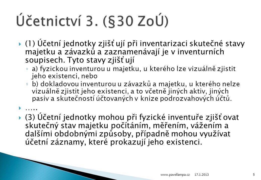 Účetnictví 3. (§30 ZoÚ)