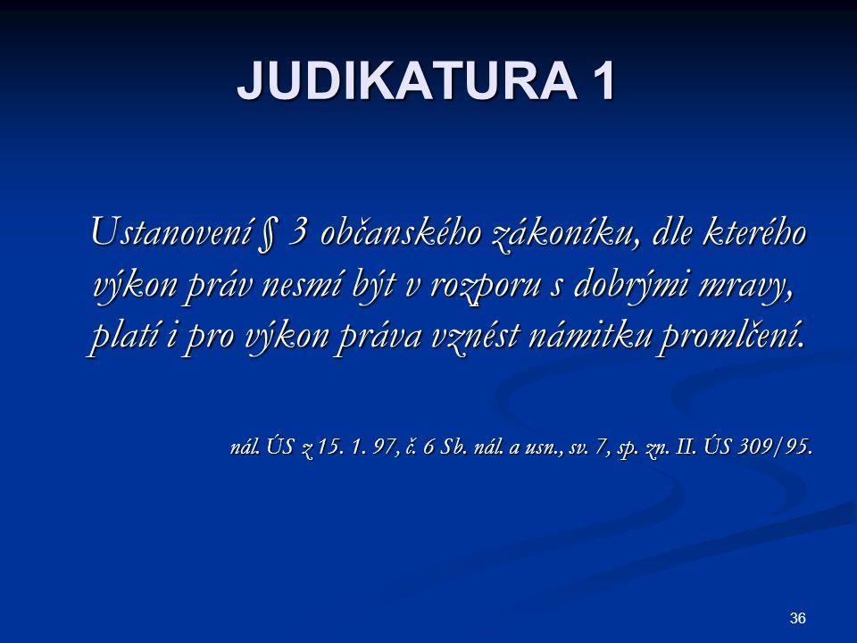 JUDIKATURA 1
