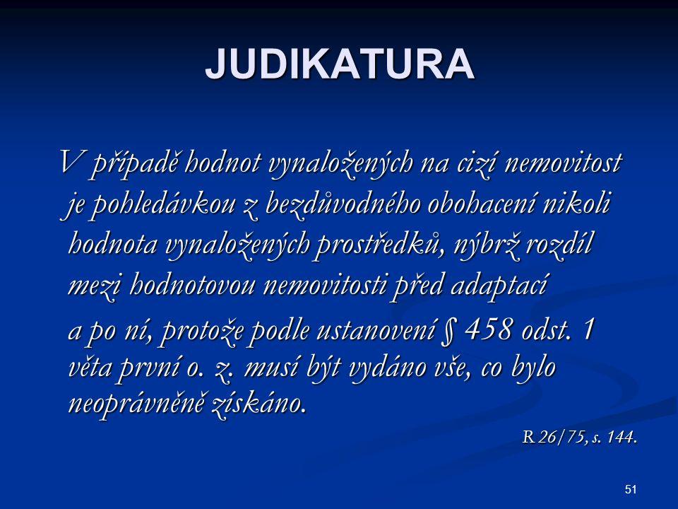 JUDIKATURA