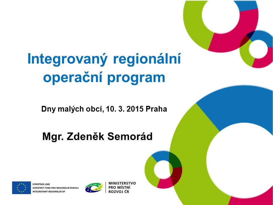 Integrovaný regionální operační program Dny malých obcí, 10. 3