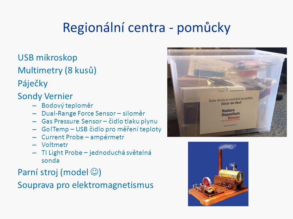 Regionální centra - pomůcky