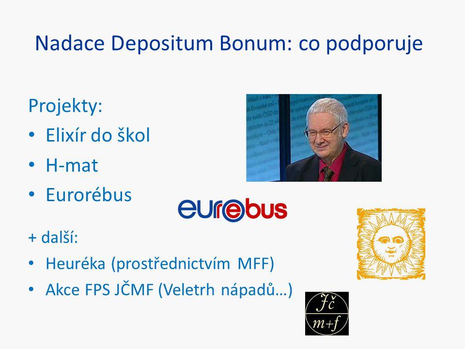 Nadace Depositum Bonum: co podporuje