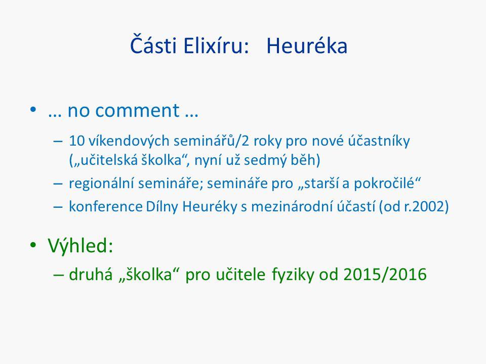 Části Elixíru: Heuréka