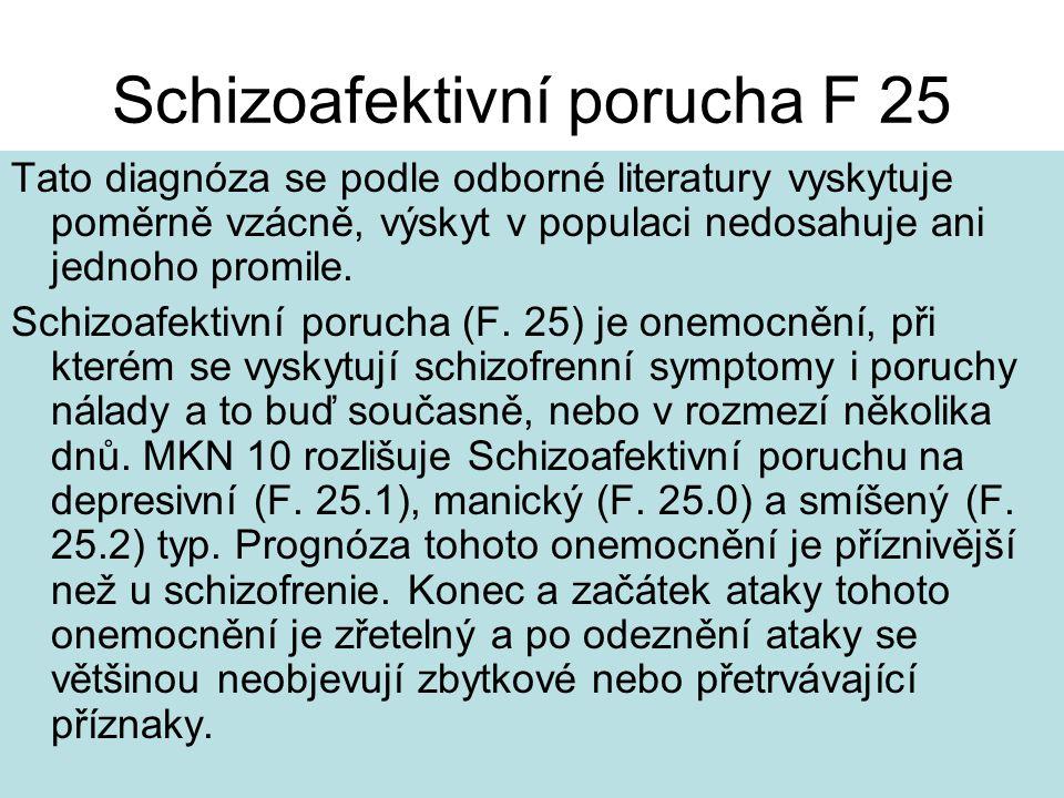Schizoafektivní porucha F 25