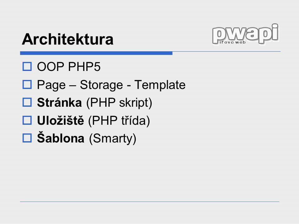 Architektura OOP PHP5 Page – Storage - Template Stránka (PHP skript)