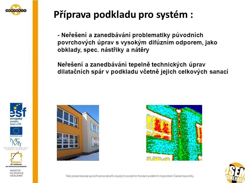 Příprava podkladu pro systém :