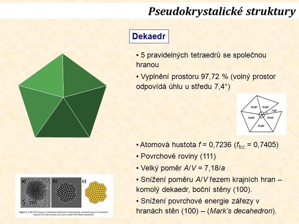 Pseudokrystalické struktury