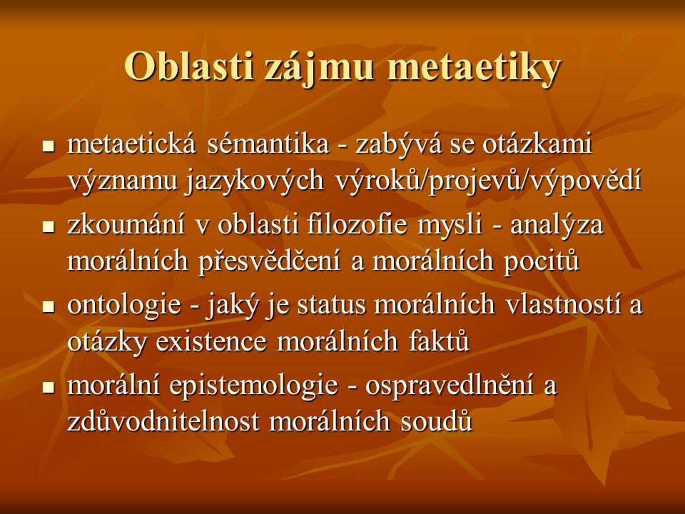 Oblasti zájmu metaetiky