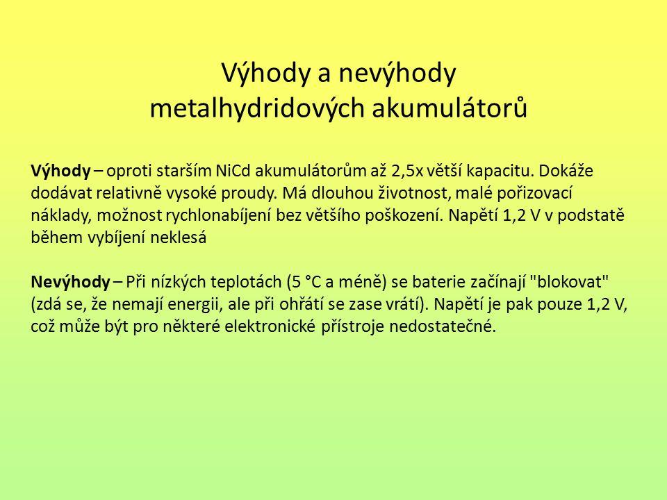 metalhydridových akumulátorů