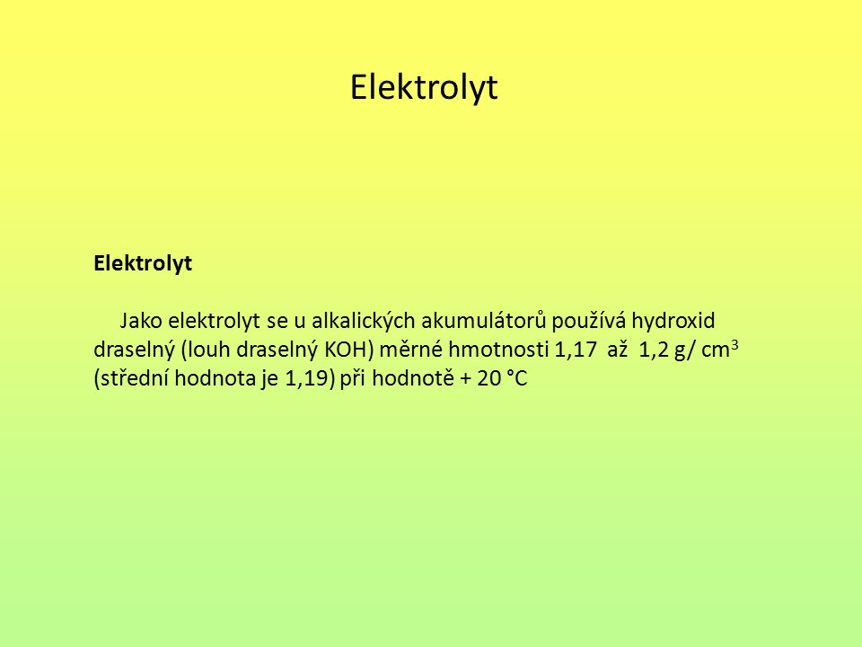 Elektrolyt Elektrolyt