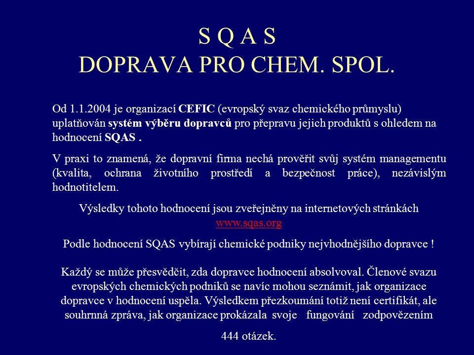 S Q A S DOPRAVA PRO CHEM. SPOL.