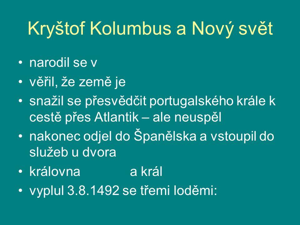 Kryštof Kolumbus a Nový svět
