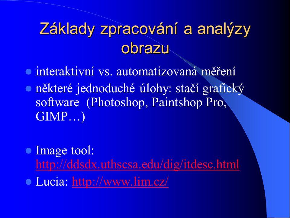 Základy zpracování a analýzy obrazu