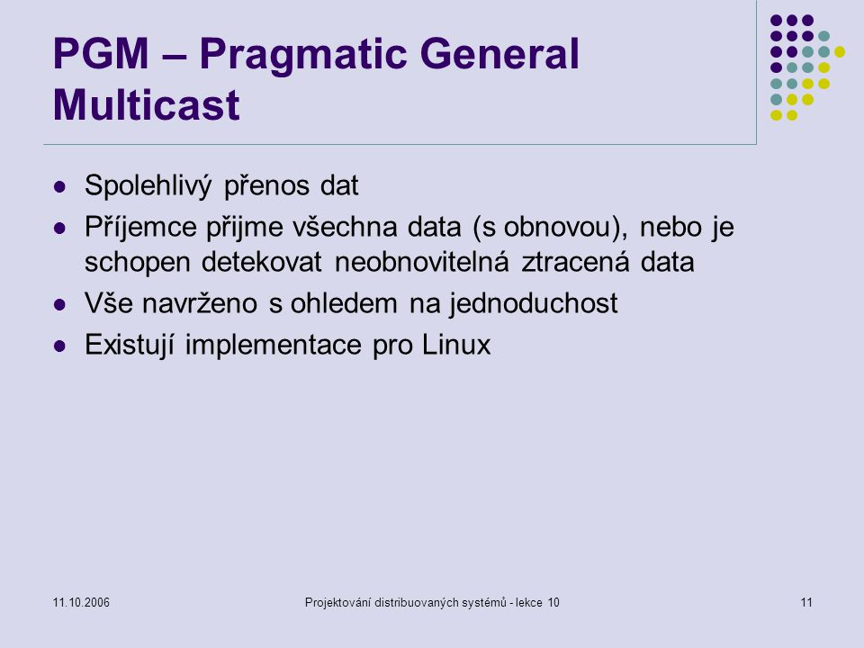 PGM – Pragmatic General Multicast