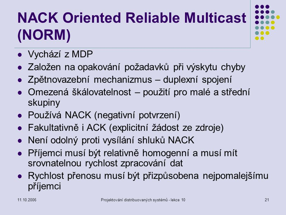NACK Oriented Reliable Multicast (NORM)