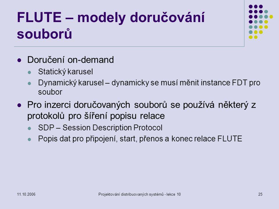 FLUTE – modely doručování souborů