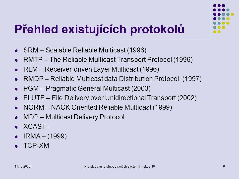 Přehled existujících protokolů
