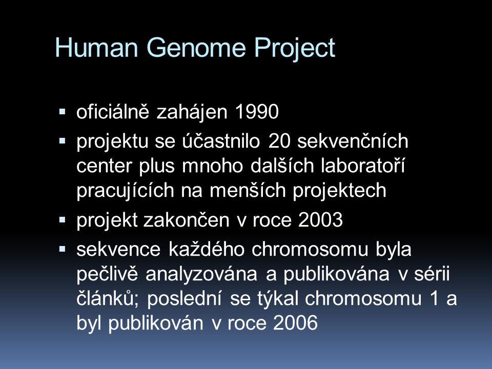 Human Genome Project oficiálně zahájen 1990
