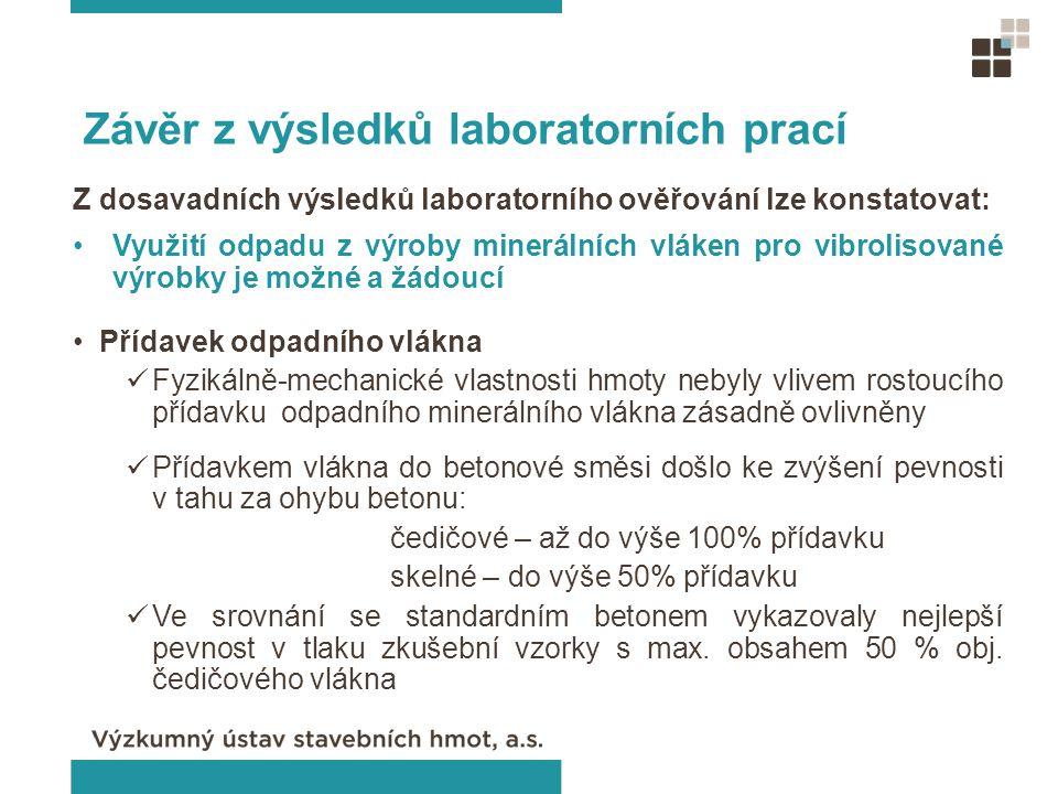 Závěr z výsledků laboratorních prací