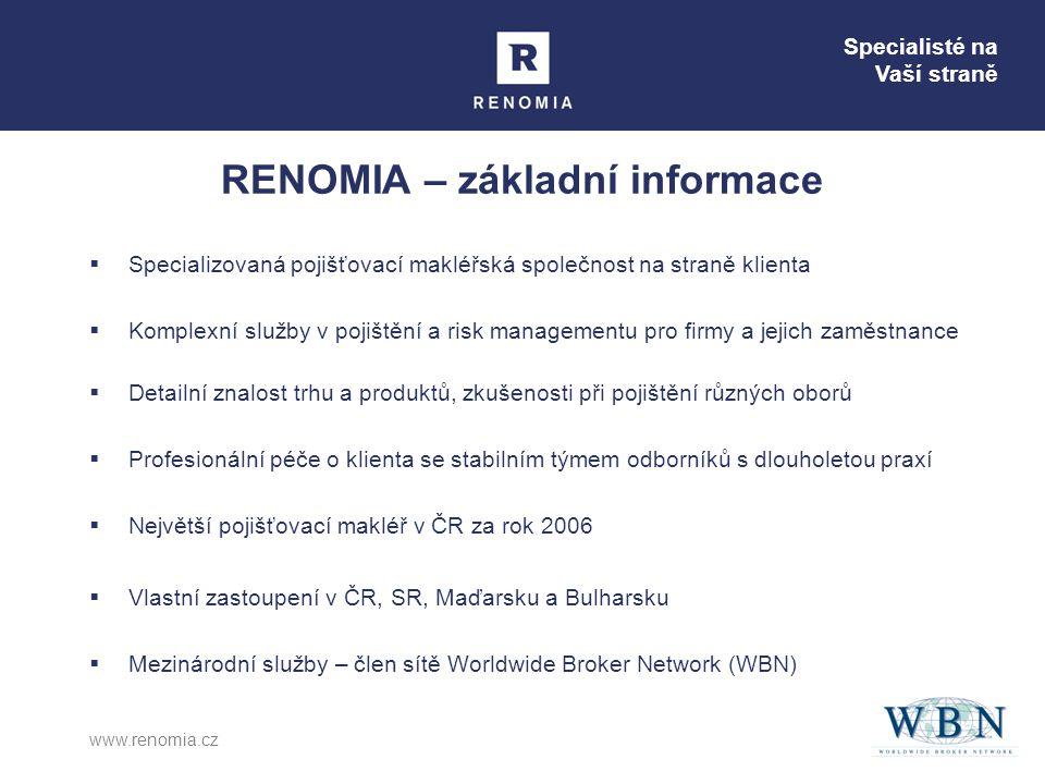 RENOMIA – základní informace