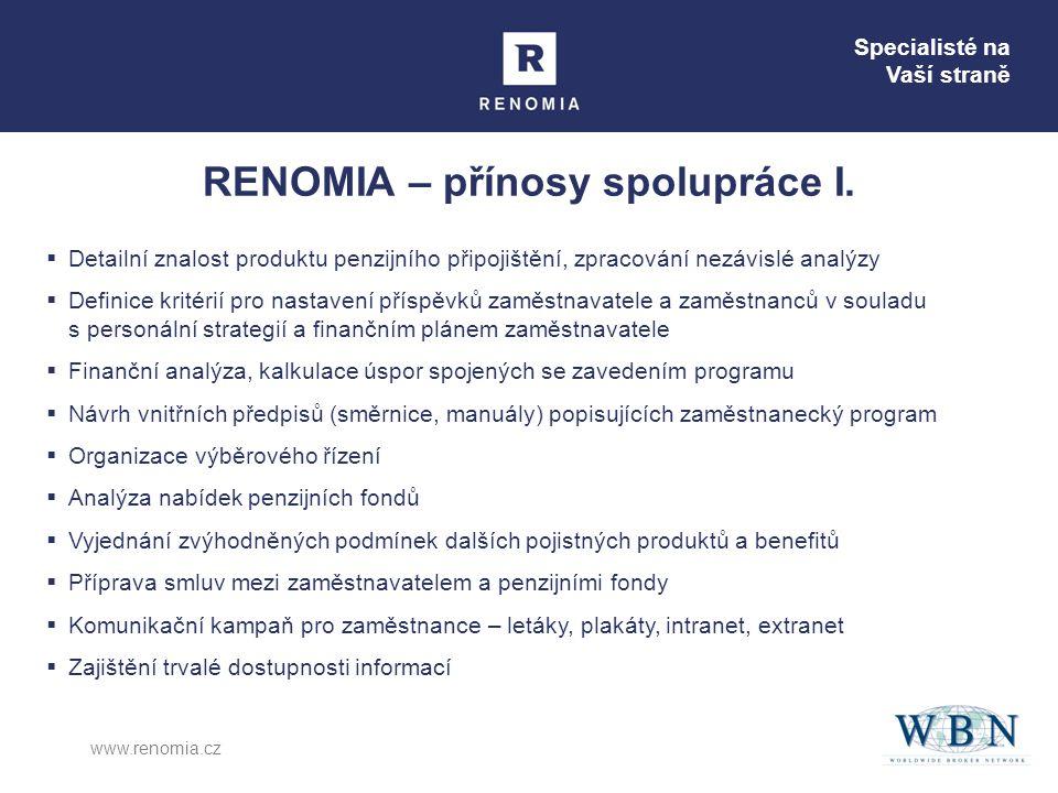 RENOMIA – přínosy spolupráce I.