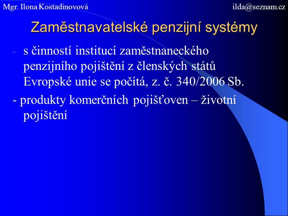 Zaměstnavatelské penzijní systémy
