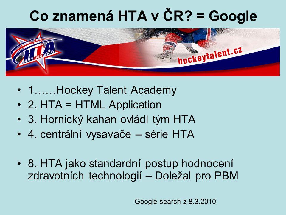 Co znamená HTA v ČR = Google