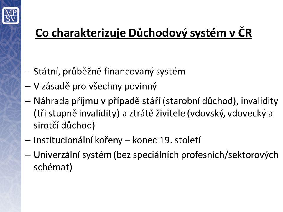 Co charakterizuje Důchodový systém v ČR