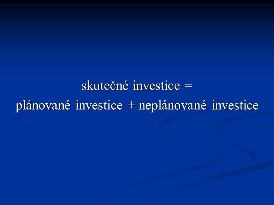 plánované investice + neplánované investice