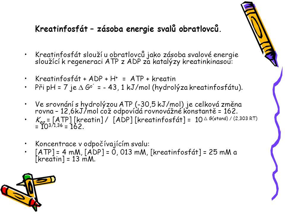 Kreatinfosfát – zásoba energie svalů obratlovců.