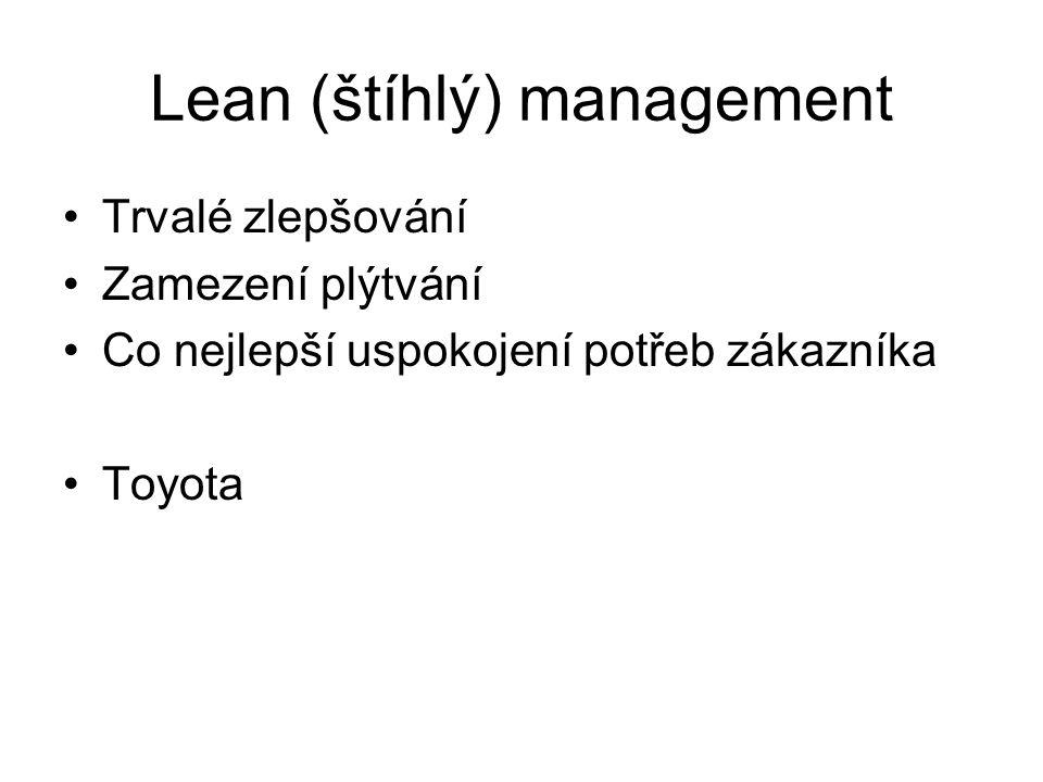Lean (štíhlý) management