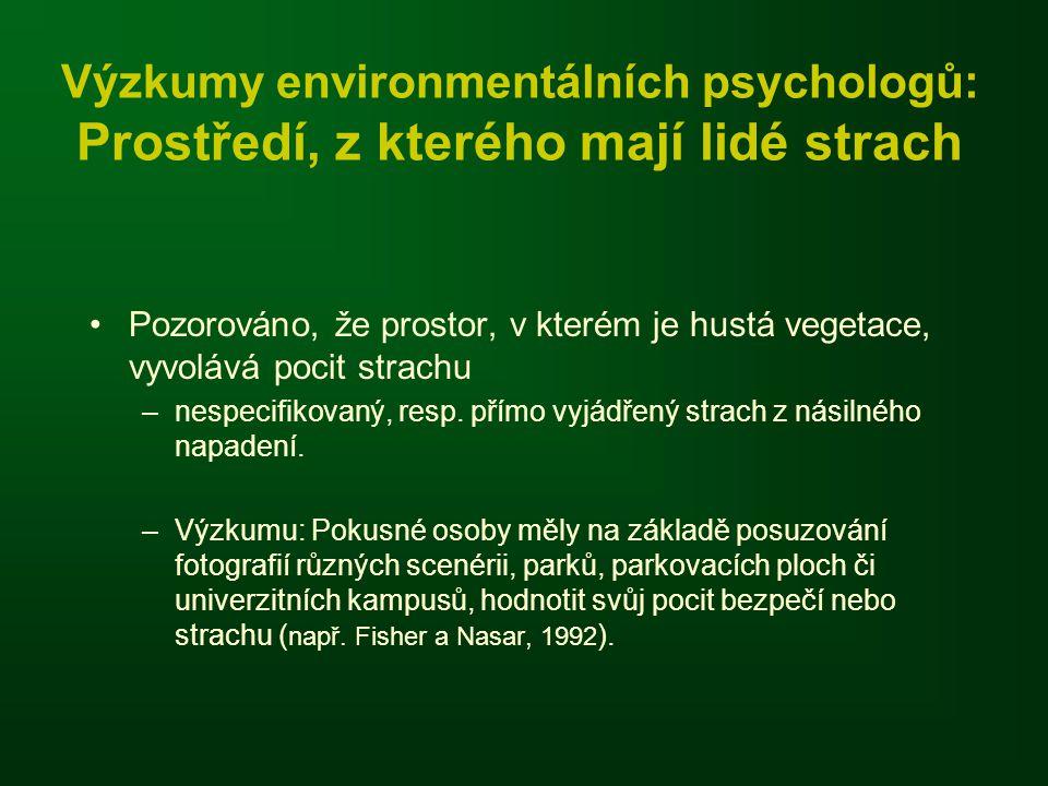 Výzkumy environmentálních psychologů: Prostředí, z kterého mají lidé strach