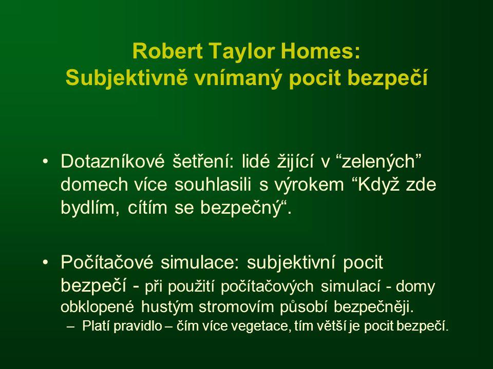 Robert Taylor Homes: Subjektivně vnímaný pocit bezpečí