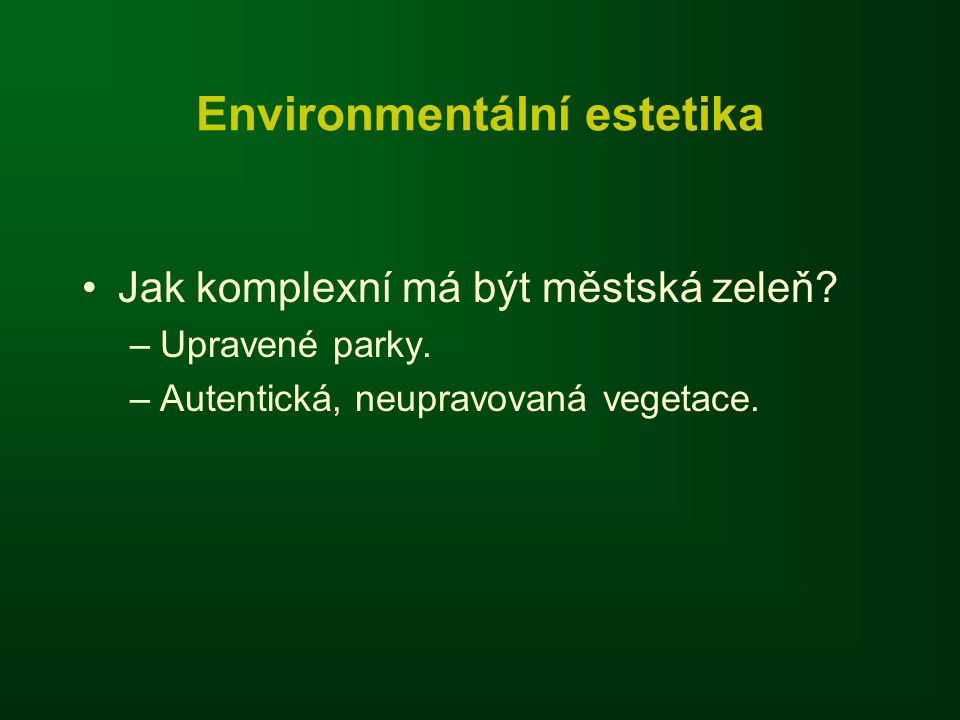 Environmentální estetika