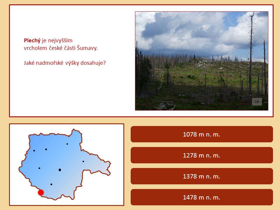 Plechý je nejvyšším vrcholem české části Šumavy.